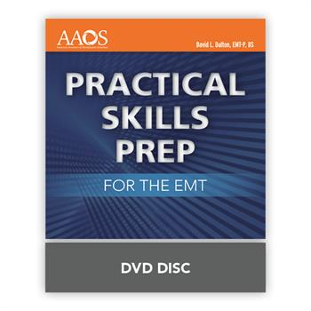 The Practical Skills Prep for the EMT demonstrates all of the EMT skills required to pass the NREMT psychomotor exam. The video clips are provided in a setting which simulates an actual testing environment. Each skill is demonstrated step-by-step, with close-up clips and visual reinforcement of complicated techniques. Narration guides the viewer through each scene with expert tips to ensure first-time success on the exam, and each scene concludes with a list of the Critical Criteria for that particular skill. As a bonus, the video includes additional EMT-level skill demonstrations, such as traction splint and dual-lumen airway insertion. Students can follow along with the video as they practice, honing their skills and building confidence. Educators can use the videos available to teach each skill and ensure consistency of instruction. All scenes provided in the Practical Skills Prep for the EMT are consistent with the new National EMS Education Standards and current American Heart Association CPR guidelines.